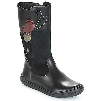 kengät Tytöt Saappaat Geox J HADRIEL Black