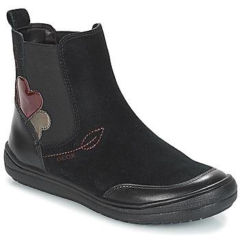 kengät Tytöt Bootsit Geox J HADRIEL GIRL Black