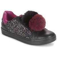 kengät Tytöt Matalavartiset tennarit Geox J DJROCK GIRL Musta / Violetti