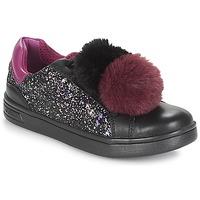 kengät Tytöt Matalavartiset tennarit Geox J DJROCK GIRL Black / Violet