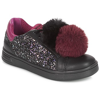 timeless design 08871 7722a kengät Tytöt Matalavartiset tennarit Geox J DJROCK GIRL Black   Violet