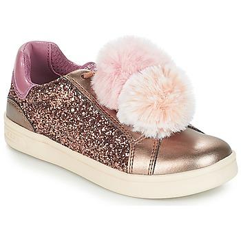 kengät Tytöt Matalavartiset tennarit Geox J DJROCK GIRL Beige / Pink
