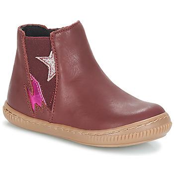 kengät Tytöt Bootsit André MAGENTA Bordeaux