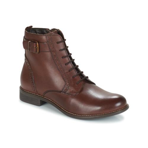kengät Naiset Bootsit André CHEPTELA Brown