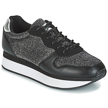 kengät Naiset Matalavartiset tennarit André TYPO Black / Silver