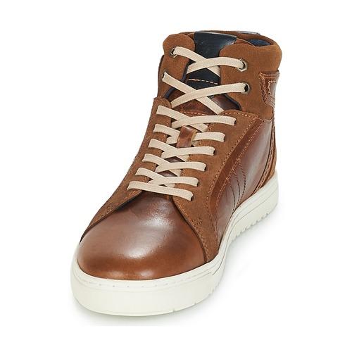 Naisten kengät André RANDONNEUR Brown  kengät Korkeavartiset tennarit Miehet 8080