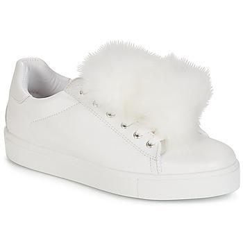 kengät Naiset Matalavartiset tennarit André POMPON White