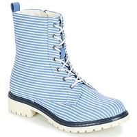 kengät Naiset Bootsit André PRUNE Raidallinen / Blue