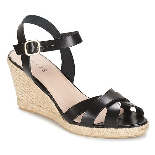 kengät Naiset Sandaalit ja avokkaat André QUIBERON Black