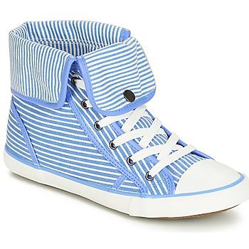 kengät Naiset Korkeavartiset tennarit André GIROFLE White / Blue