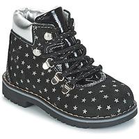 kengät Tytöt Bootsit Citrouille et Compagnie JORDA Black / Hopea