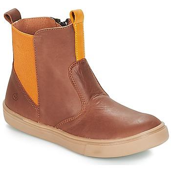kengät Pojat Bootsit Citrouille et Compagnie JRYNE Kamelinruskea / Keltainen