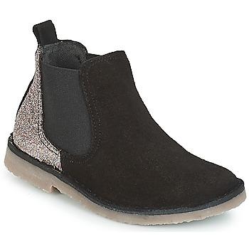 kengät Tytöt Bootsit Citrouille et Compagnie JIGOULI Black / Glitter