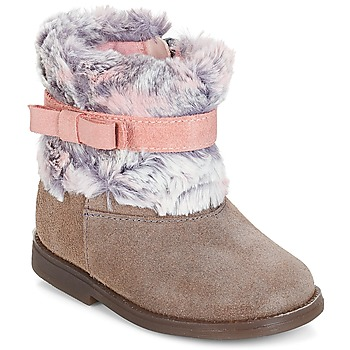 kengät Tytöt Bootsit Citrouille et Compagnie JERRADJE Grey / Pink