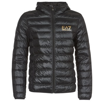 vaatteet Miehet Toppatakki Emporio Armani EA7 TRAIN CORE ID M DOWN LIGHT Black / Kulta