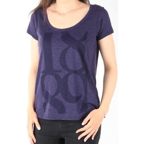 vaatteet Naiset Lyhythihainen t-paita Lee T-Shirt  Scoop Mystic Plum 40KFL87 blue