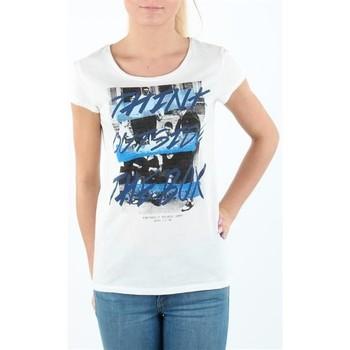 vaatteet Naiset Lyhythihainen t-paita Lee T-shirt Damski SLIM T CLOUD DANCER L41MEVHA white