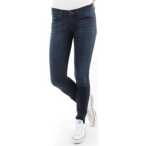 vaatteet Naiset Skinny-farkut Wrangler Spodnie Damskie CORYNN BLUE SHELTER W25FU466N blue