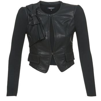 vaatteet Naiset Nahkatakit / Tekonahkatakit Morgan VUIR Black