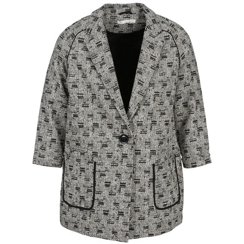vaatteet Naiset Paksu takki See U Soon CARA Black / White