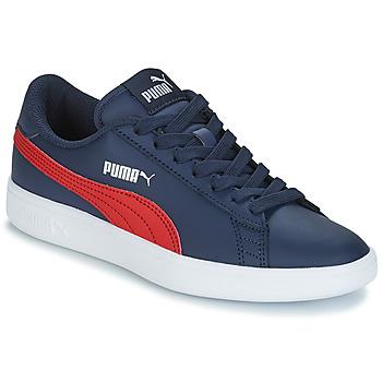 kengät Lapset Matalavartiset tennarit Puma SMASH V2L JR182 Laivastonsininen