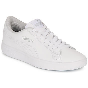 kengät Lapset Matalavartiset tennarit Puma SMASH V2 L JR White