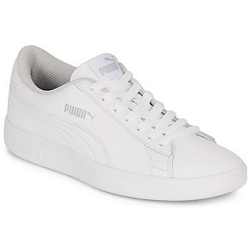 kengät Lapset Matalavartiset tennarit Puma SMASH V2 L JR White