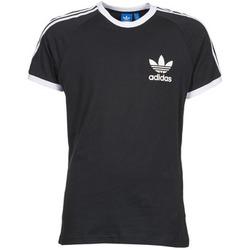 vaatteet Miehet Lyhythihainen t-paita adidas Originals SPORT ESS TEE Musta