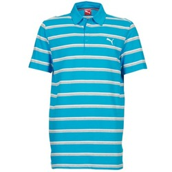 vaatteet Miehet Lyhythihainen poolopaita Puma FUN STRIPE PIQUE POLO Blue / White / Grey