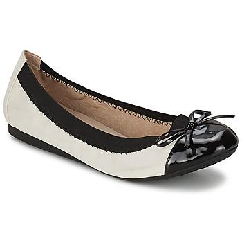kengät Naiset Balleriinat Moony Mood ELALA White / Black