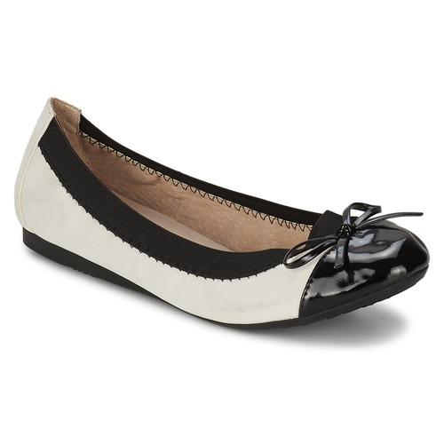 kengät Naiset Balleriinat Moony Mood VADOUMI White / Black