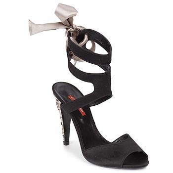 kengät Naiset Sandaalit ja avokkaat Charles Jourdan MADNESS Black / Hiekka