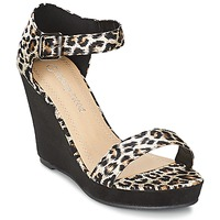 kengät Naiset Sandaalit ja avokkaat Moony Mood IVONGA Black / Leopardi