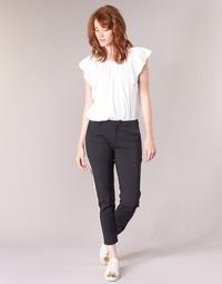 vaatteet Naiset Reisitaskuhousut Maison Scotch ZERATRE Black / White