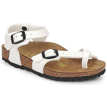 kengät Tytöt Sandaalit ja avokkaat Birkenstock TAORMINA White