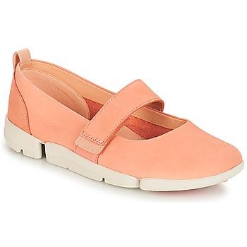 kengät Naiset Balleriinat Clarks Tri Carrie Pinkki