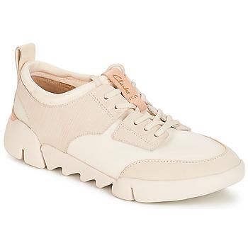 kengät Naiset Matalavartiset tennarit Clarks Tri Spirit Valkoinen