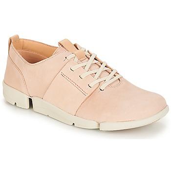 kengät Naiset Matalavartiset tennarit Clarks Tri Caitlin Nude / Pinkki