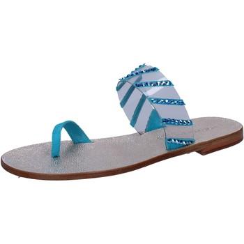 kengät Naiset Sandaalit ja avokkaat Eddy Daniele sandali blu camoscio plastica swarovski aw487 Blu