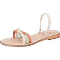 kengät Naiset Sandaalit ja avokkaat Eddy Daniele sandali bianco corda verde arancione aw479 Multicolore