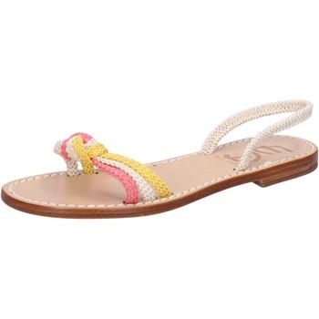 kengät Naiset Sandaalit ja avokkaat Eddy Daniele sandali bianco corda rosa giallo av411 Multicolore