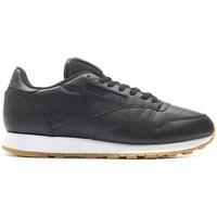 kengät Miehet Matalavartiset tennarit Reebok Sport Classic Leather PG Mustat