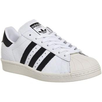 kengät Naiset Matalavartiset tennarit adidas Originals Superstar 80S Valkoiset