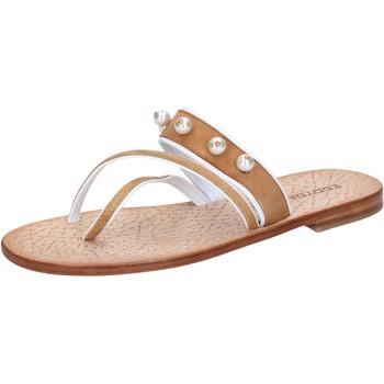 kengät Naiset Sandaalit ja avokkaat Eddy Daniele sandali marrone camoscio perline ax774 Marrone