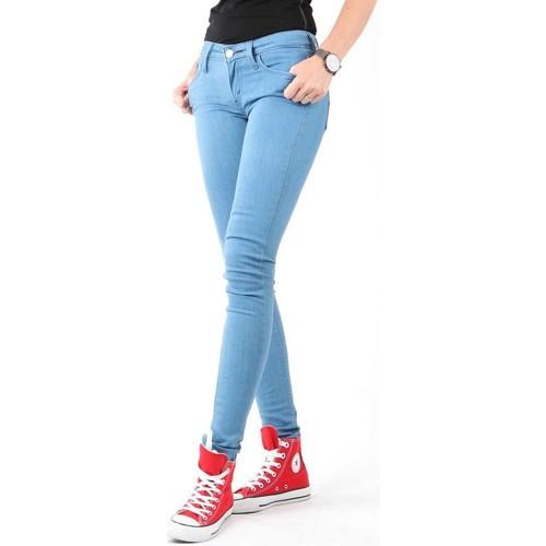 vaatteet Naiset Skinny-farkut Levi's Super Skinny Coupe 11997-0215 blue