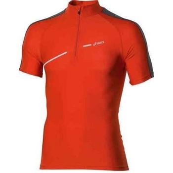 vaatteet Naiset Lyhythihainen t-paita Asics 1/2 ZIP TOP FW12 421016-0540 orange