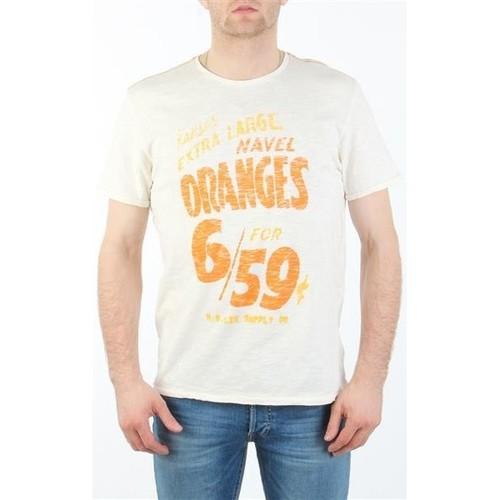 vaatteet Miehet Lyhythihainen t-paita Lee MARCANTILE L668ABBC white