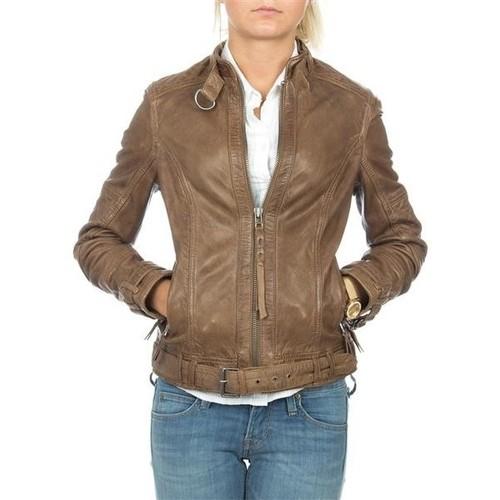 vaatteet Naiset Takit / Bleiserit Wrangler skórzana  Montana WR4044ZCBR brown