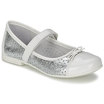 kengät Tytöt Balleriinat Citrouille et Compagnie JILENA Argenté / White