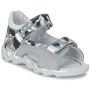 kengät Pojat Sandaalit ja avokkaat Citrouille et Compagnie MISQUINE White / Military